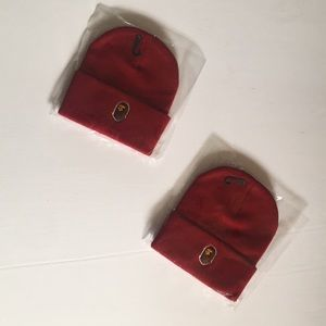 Red Bape Beanie( 1 for 30 2 for 60)